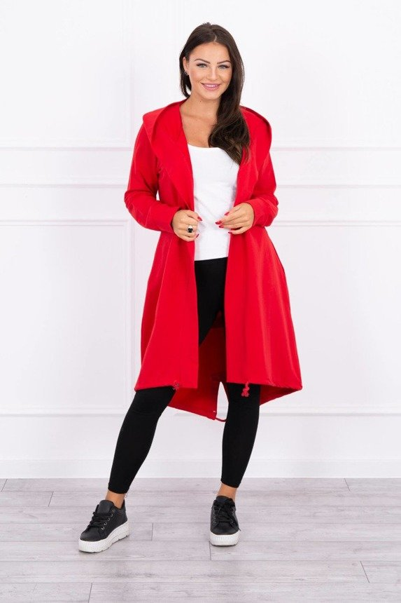 Cardigan with print oversize red