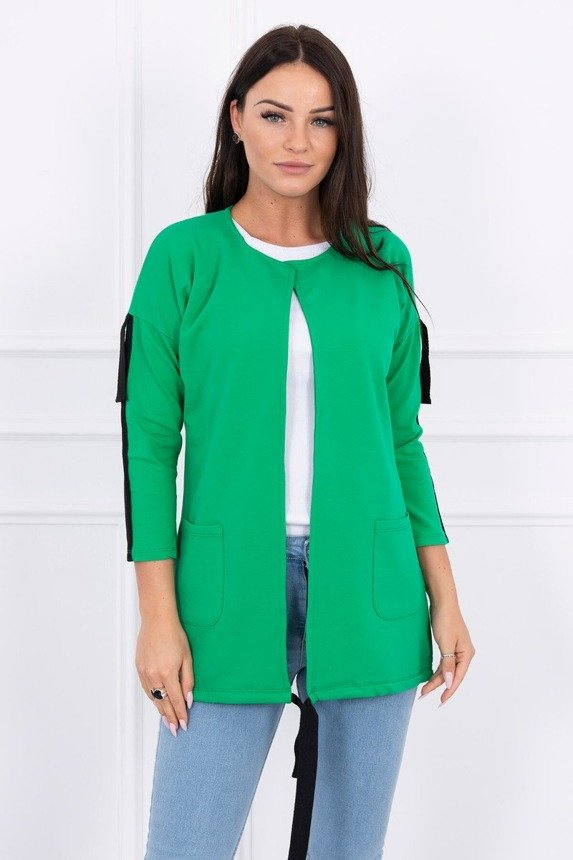 Coatee with stripe green