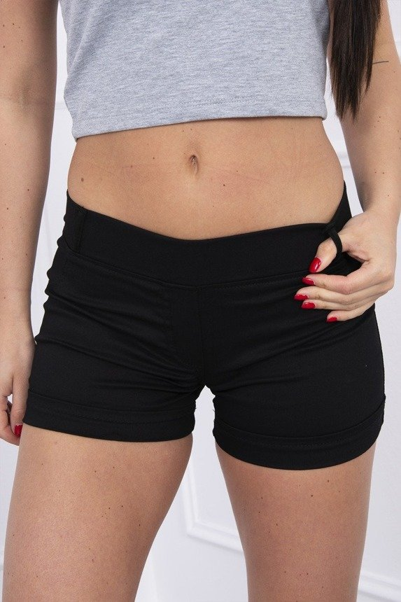 Colorful jeans shorts black