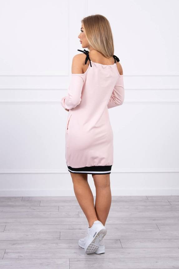 Dress Tres Chic powdered pink