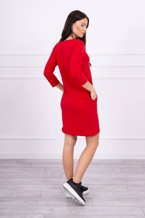 Dress with graphics 3D Noteworthy red