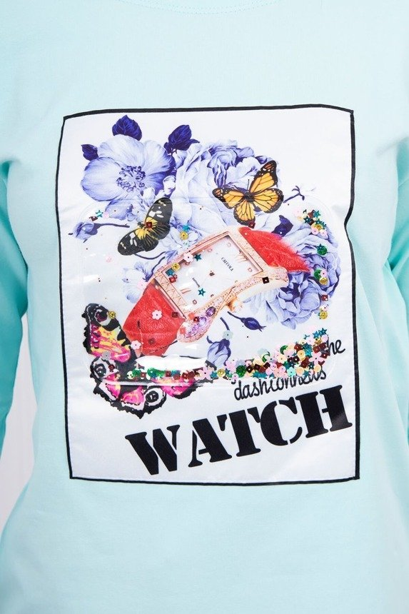 Dress with graphics 3D Watch mint