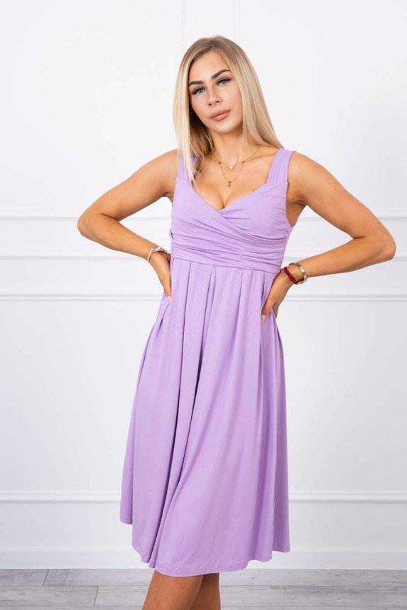 Dress with wide straps purple