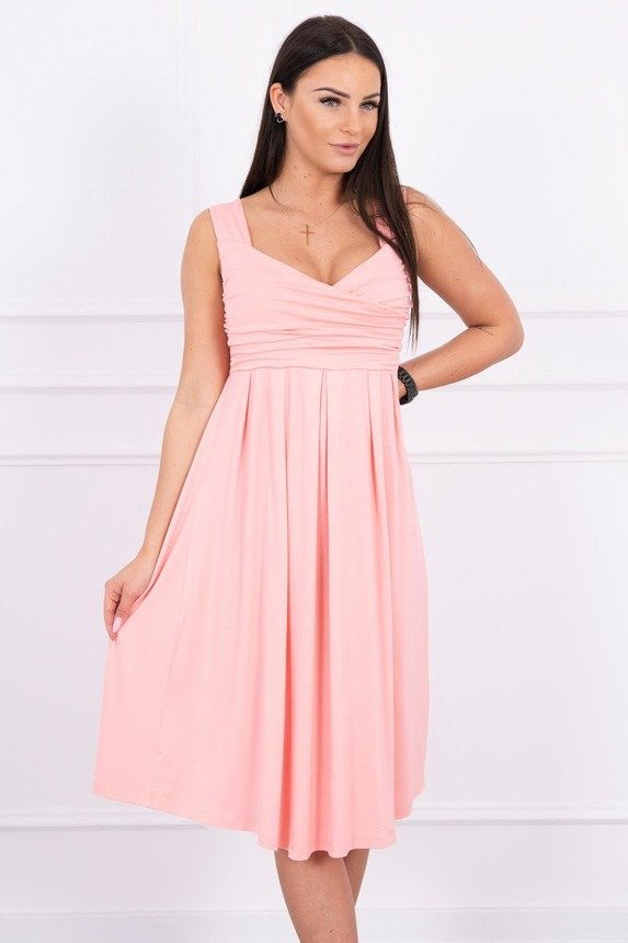 Dress with wide straps salmon