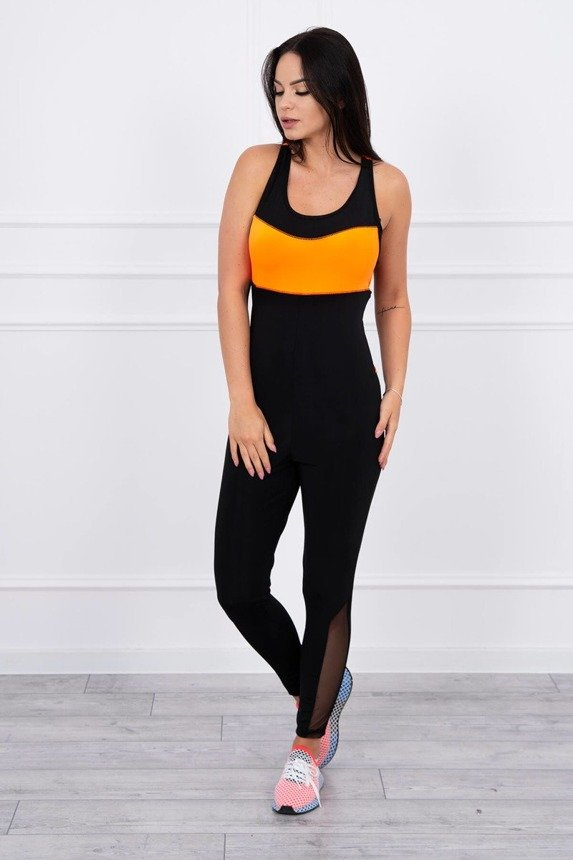 Fitness suit orange neon