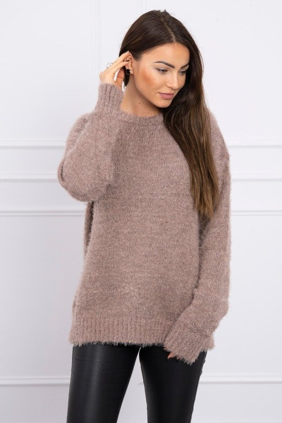 Hair sweater cappuccino