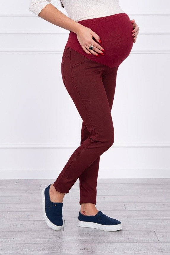 Maternity pants, colored jeans burgundy