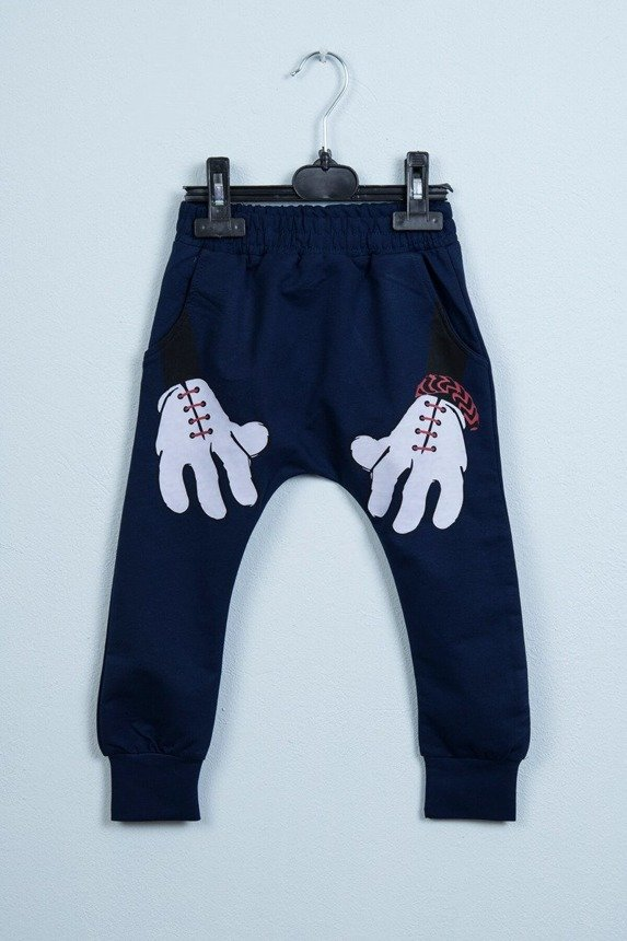 Pants with handles navy blue (3 pcs.)