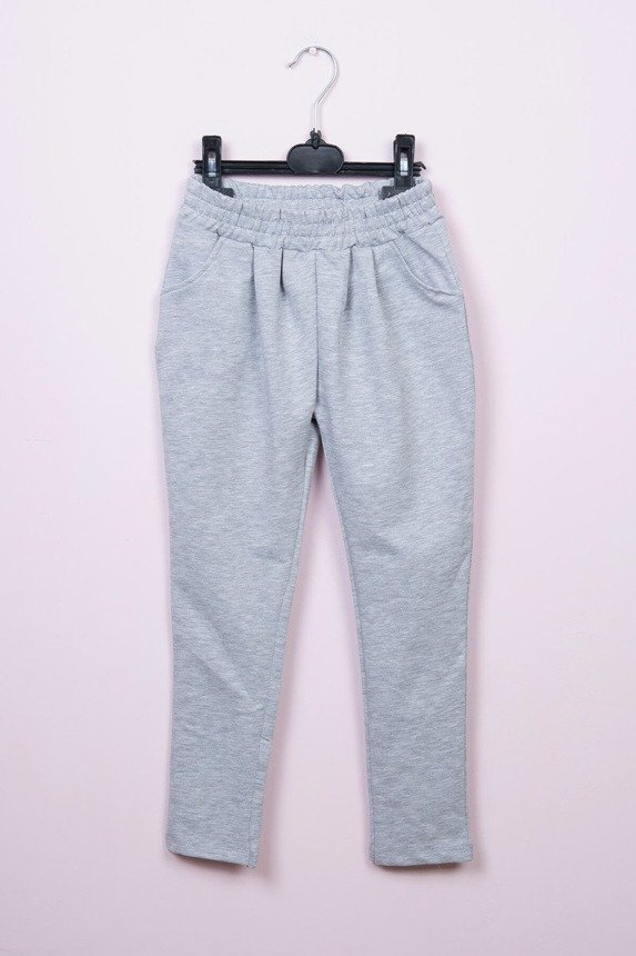 Pants with two hearts gray (4 pcs.)