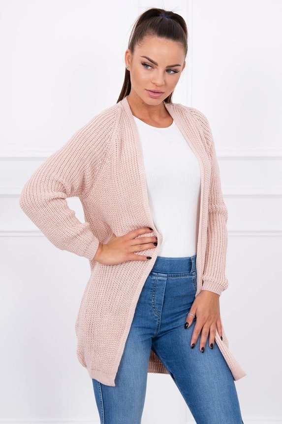Ribbed jumper powdered pink