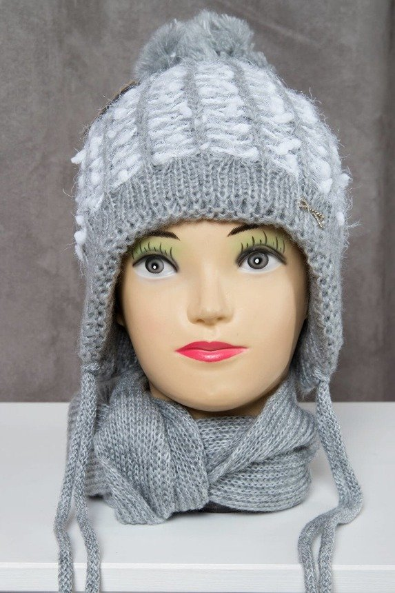 Set hat+scarf K50 gray