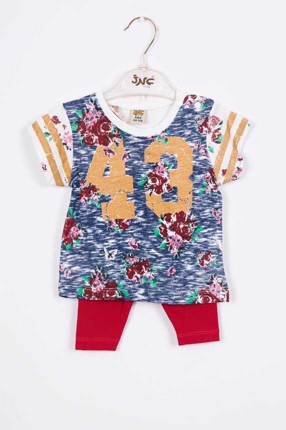 Set with a number 43 navy blue + red (3 pcs.)