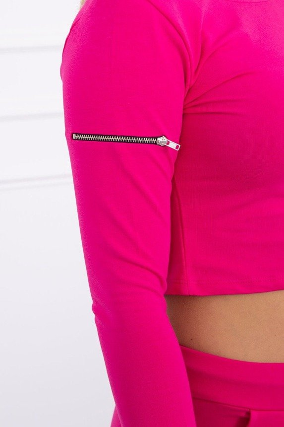 Set with decorative zips fuchsia