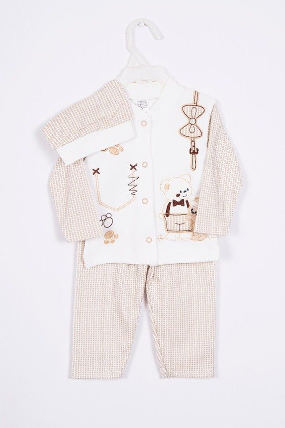 Set with two teddy bears beige (2 pcs.)