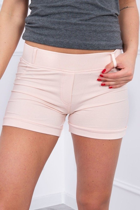 Shorts with pockets powdered pink