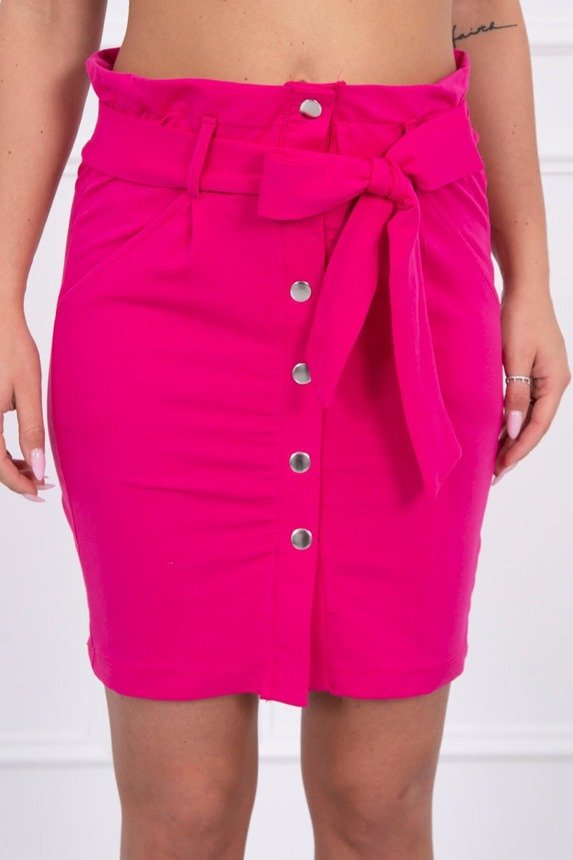 Skirt with decorative buttons fuchsia
