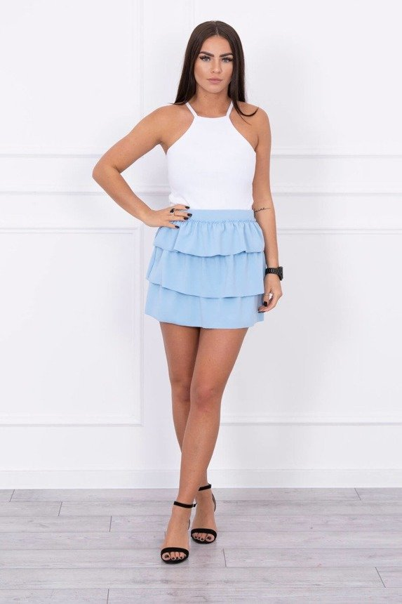 Skirt with frills azure
