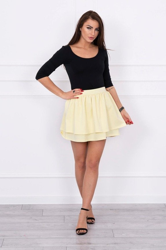 Skirt with two frills yellow