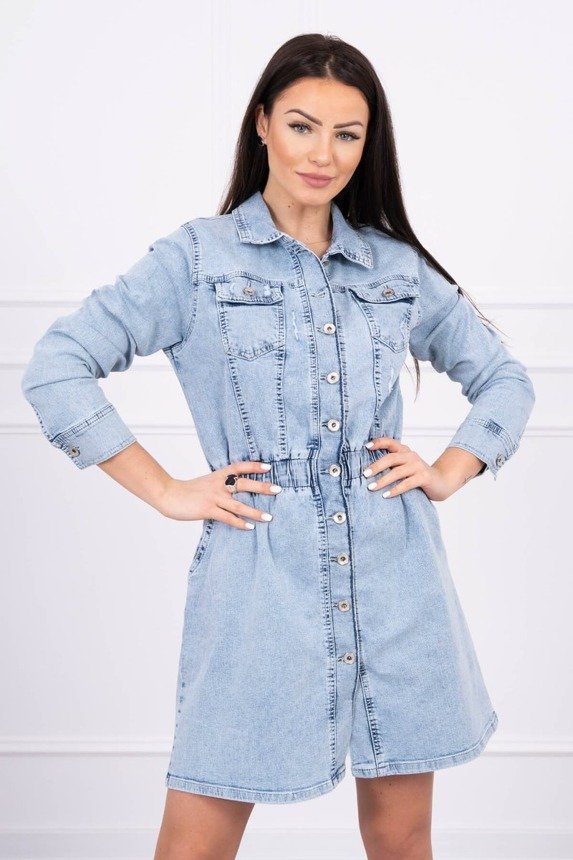 Stretch denim dress S/M-M/L