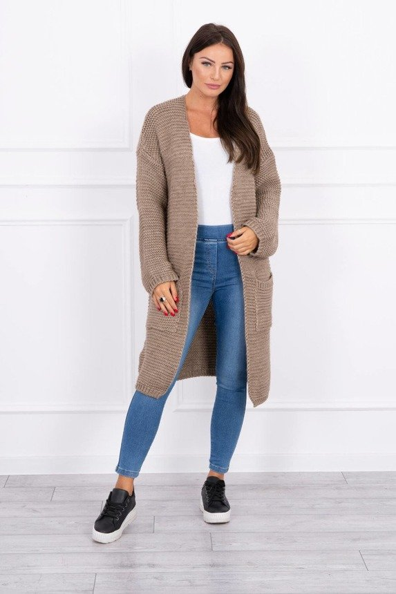Sweater Cardigan with pockets cappuccino