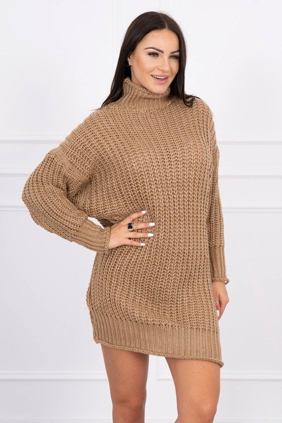 Sweater Turtleneck dress cappuccino