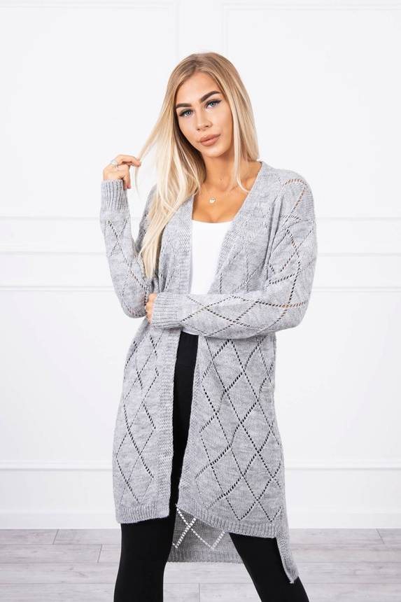 Sweater with a geometric pattern gray