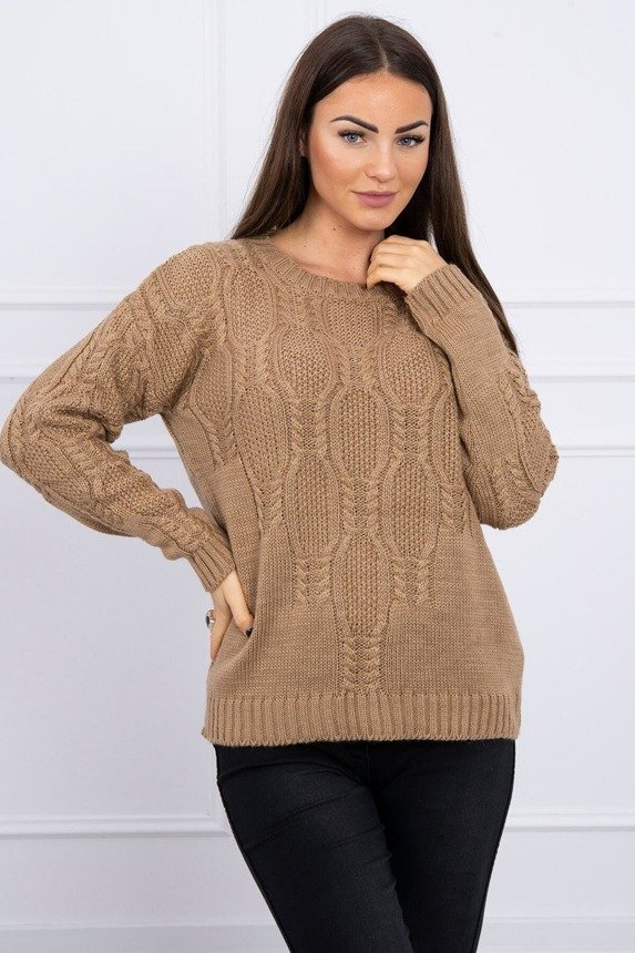 Sweater with an openwork weave camel
