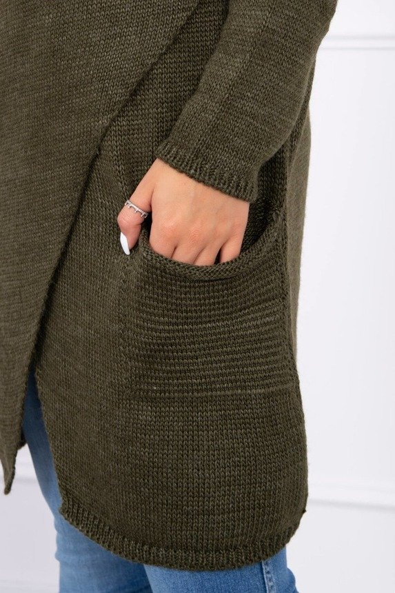 Sweater with envelope bottom khaki