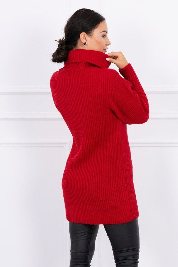 Sweater with golf red
