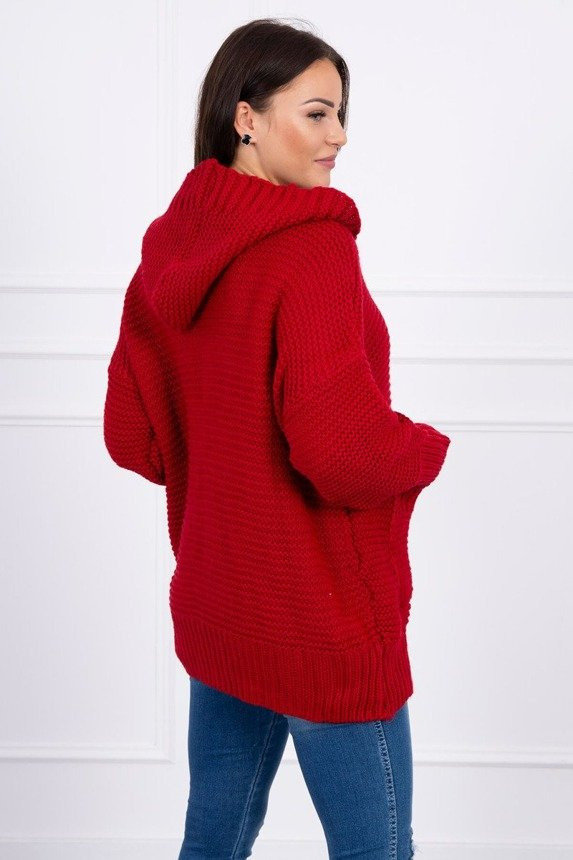 Sweater with press studs red