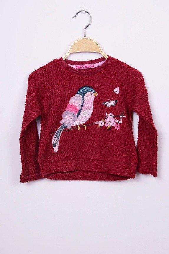 Sweatshirt Bird burgundy (4 pcs.)