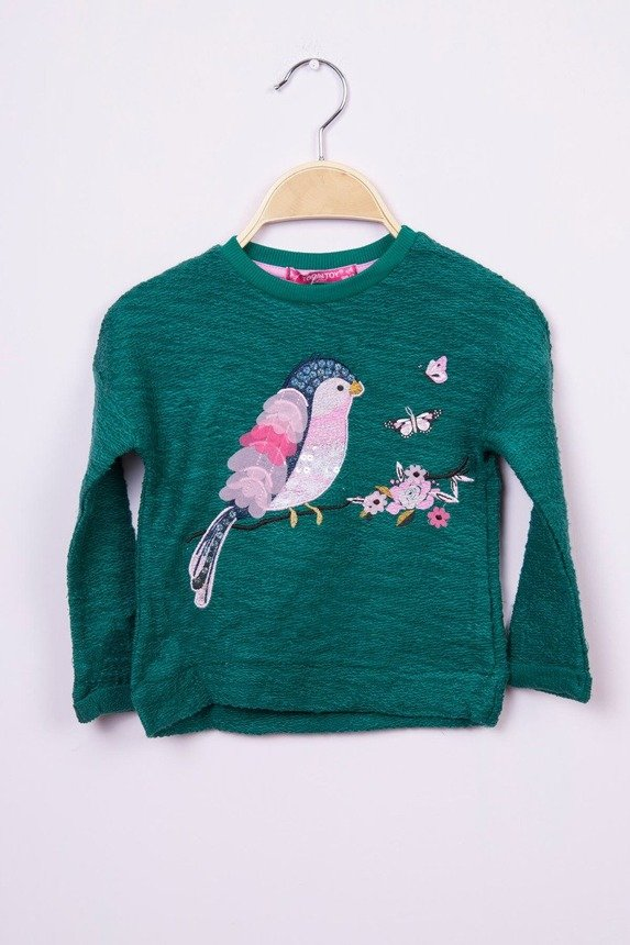 Sweatshirt Bird green (4 pcs.)
