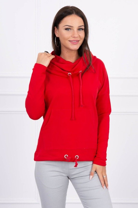 Sweatshirt with collar red