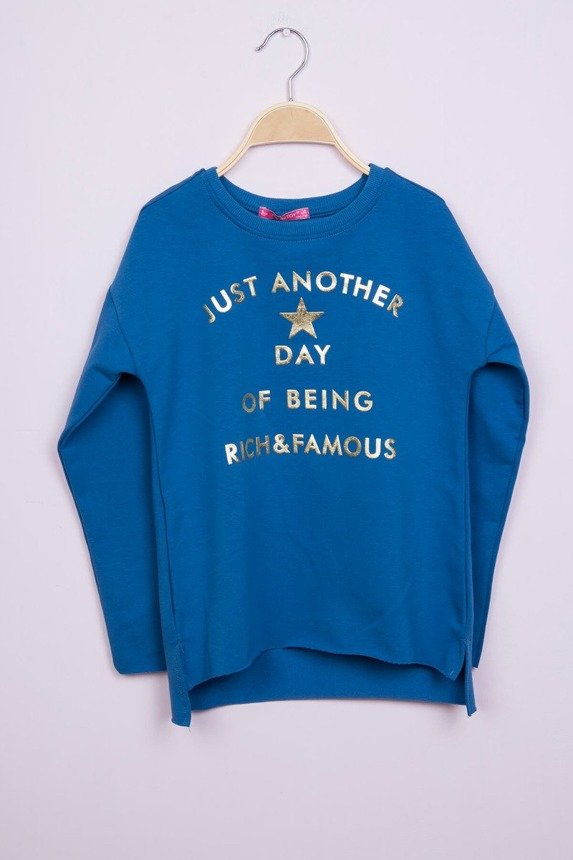 Sweatshirt with golden lettering jeans (4 pcs.)