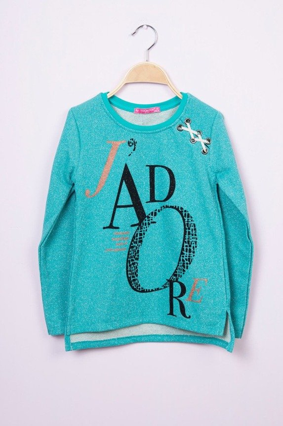 Sweatshirt with lacing mint (4 pcs.)