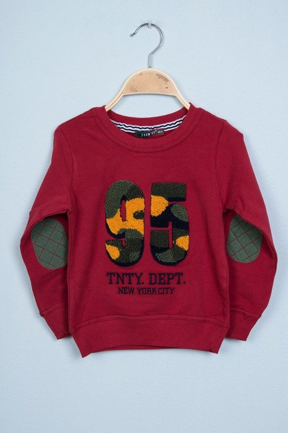Sweatshirt with number 95 burgundy (4 pcs.)