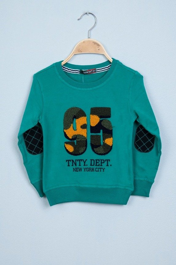 Sweatshirt with number 95 green (3 pcs.)