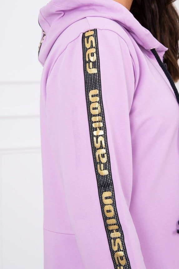 Sweatshirt with zip at the back purple