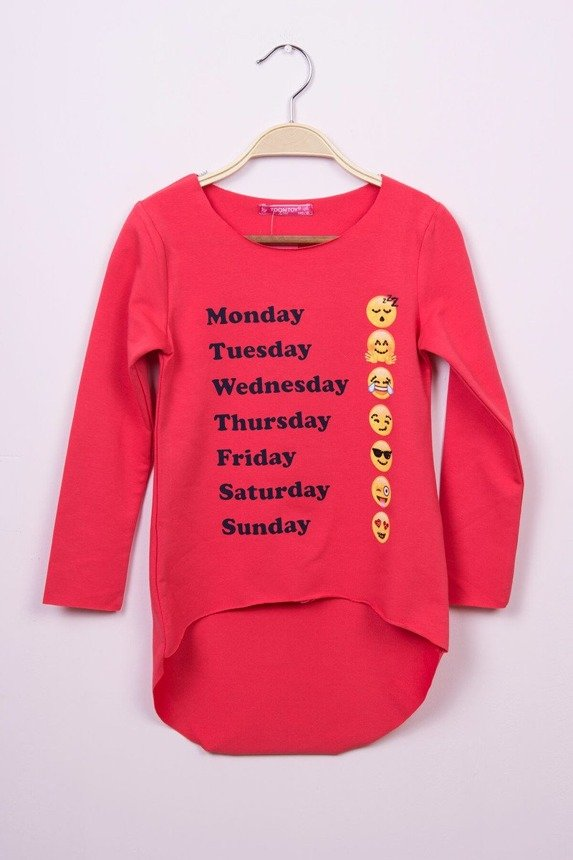 Tunic days of the week coral (4 pcs.)