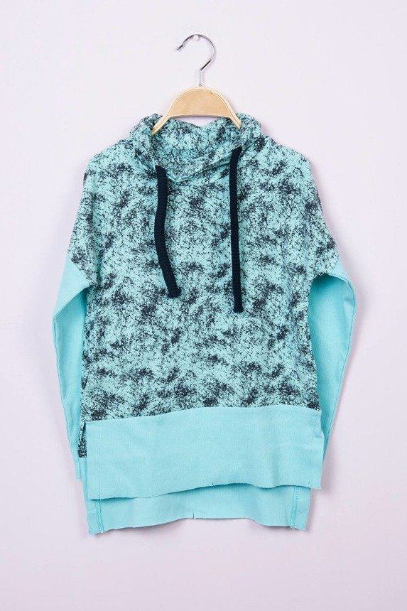 Tunic tied at the neck mint (4 pcs.)