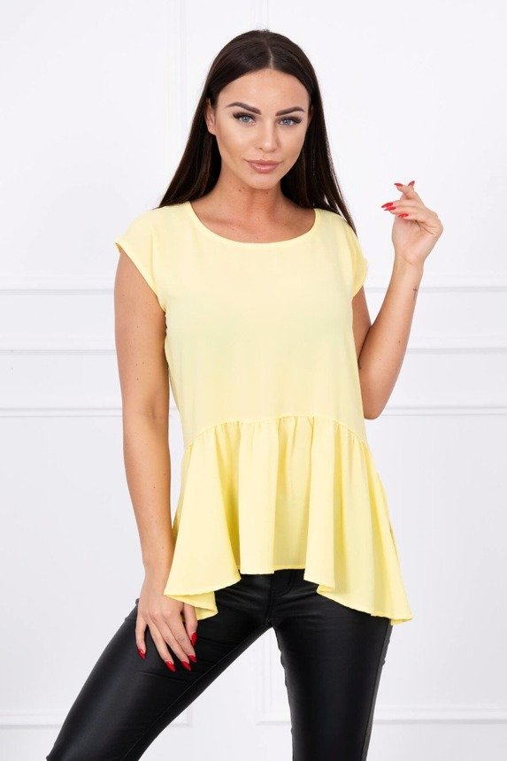 Tunic with a frill yellow