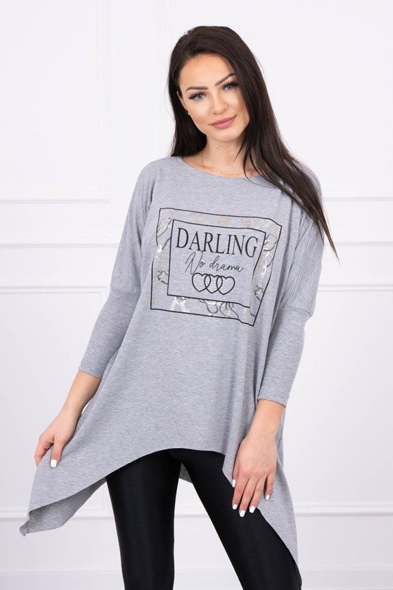 Tunic with print Darling gray S/M - L/XL
