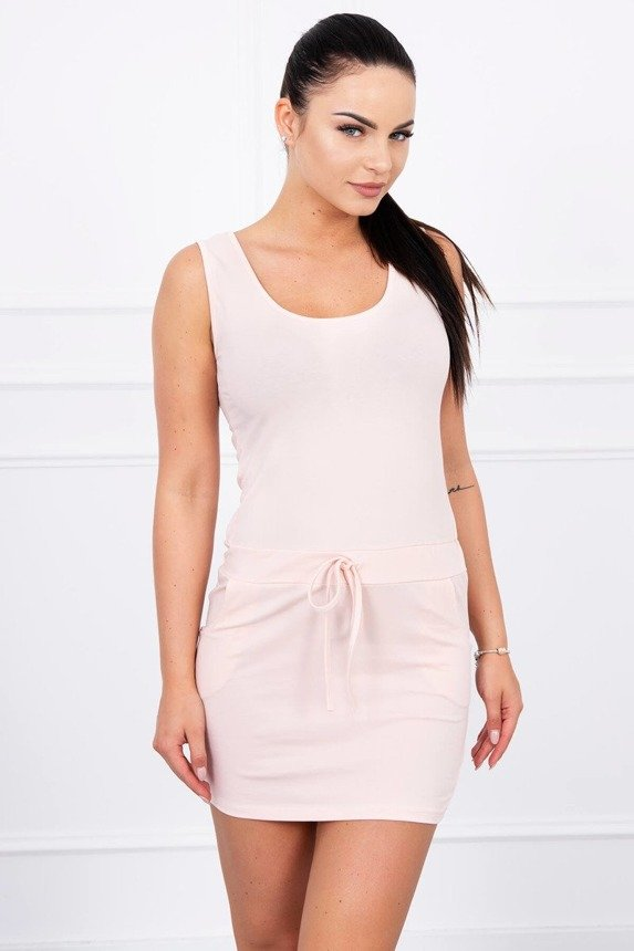 Tunic with wide straps powdered pink