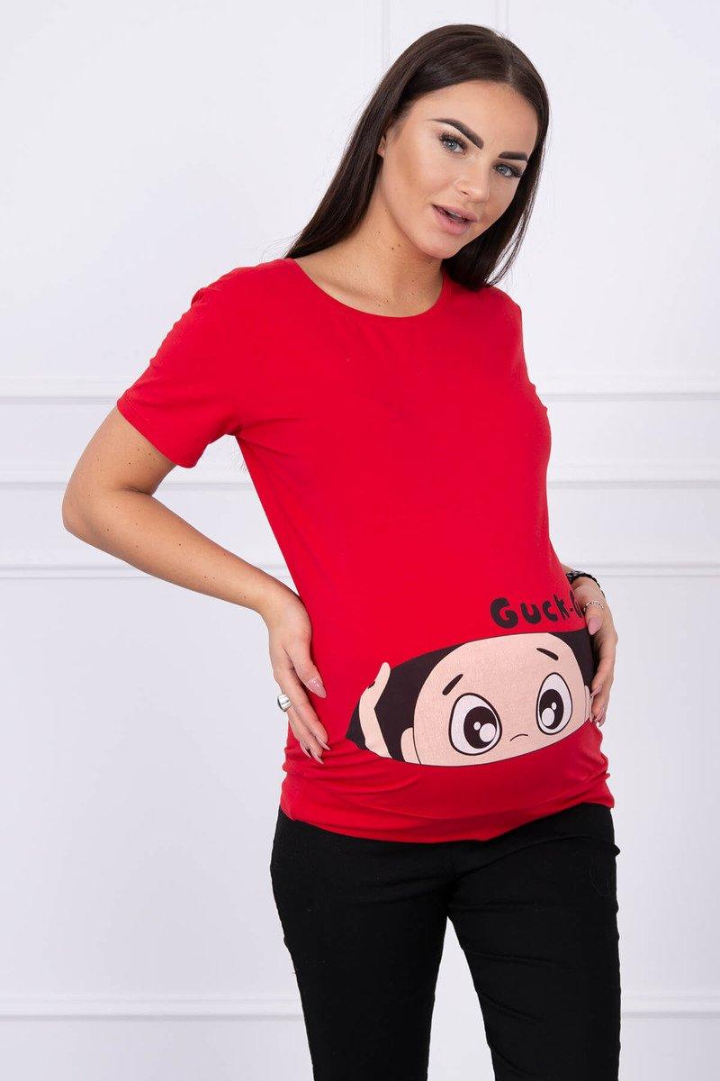 931875a5bfaa2e Bluzka ciążowa Guck czerwona · Bluzka ciążowa Guck czerwona ...