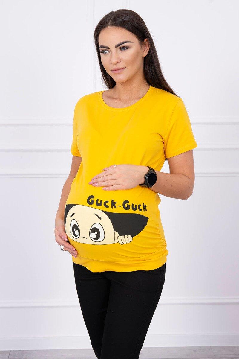 e8dd4a13d14742 Bluzka ciążowa Guck musztardowa · Bluzka ciążowa Guck musztardowa ...