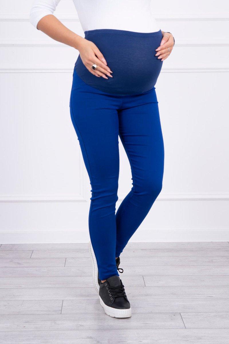 Spodnie ciążowe, kolorowy jeans chabrowe. Odzież ciążowa