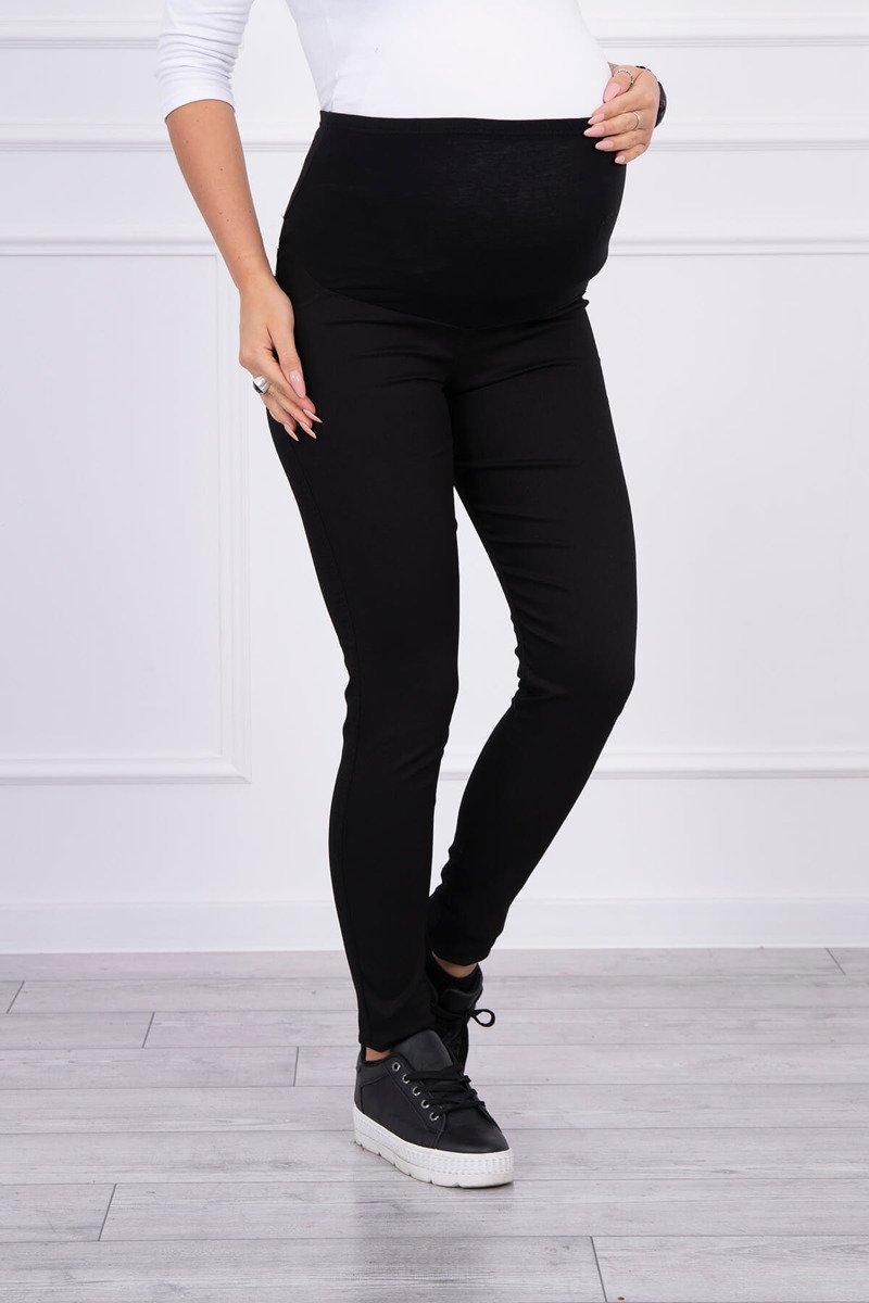 Spodnie ciążowe, kolorowy jeans czarne. Odzież jeansowa