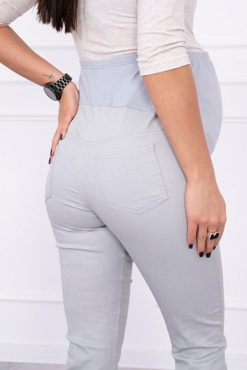 Spodnie ciążowe, kolorowy jeans szare. Odzież ciążowa