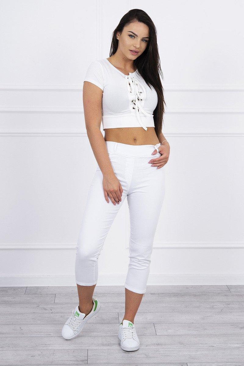 Spodnie kolorowy jeans 78 białe. Odzież jeansowa. Hurtownia