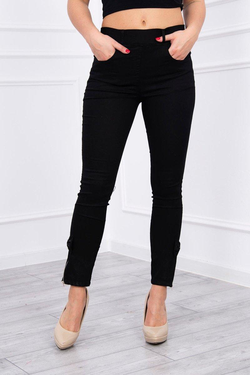 23af79d3b962ec ... Spodnie kolorowy jeans z kokardką czarne ...
